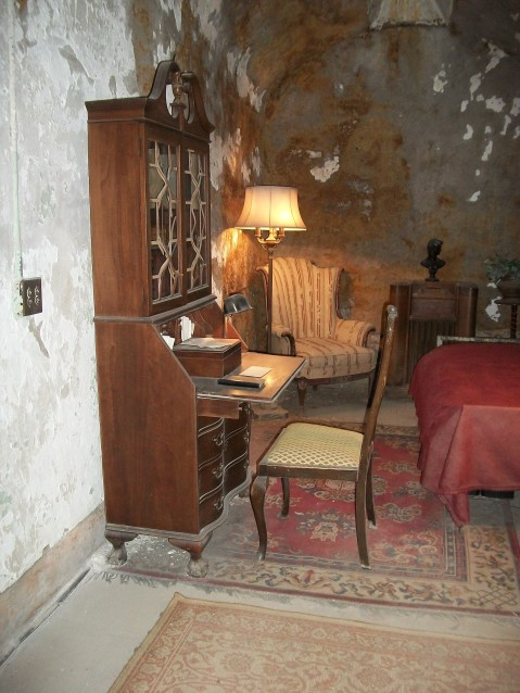Take a look a the armchair at the rear of the cell and decide for yourself.