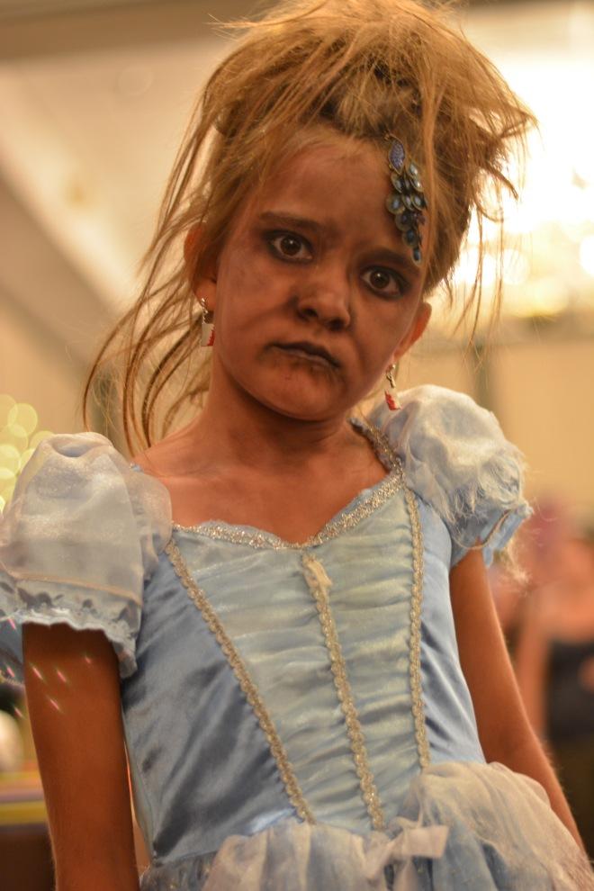 I believe she won the kids costume contest. Creepy as hell.